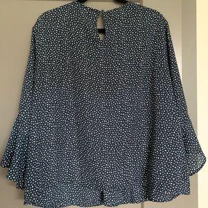 Long flutter sleeve blouse